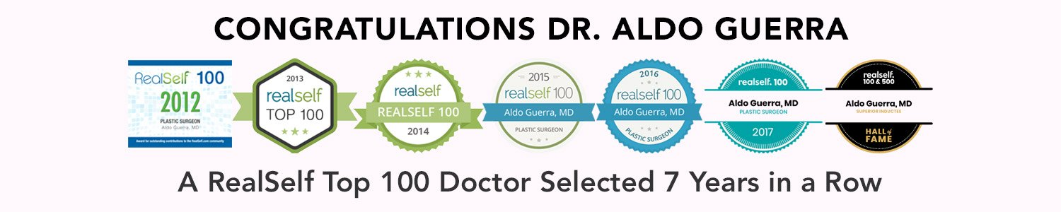 Dr. Aldo has been a RealSelf 100 inductee every year since 2012.