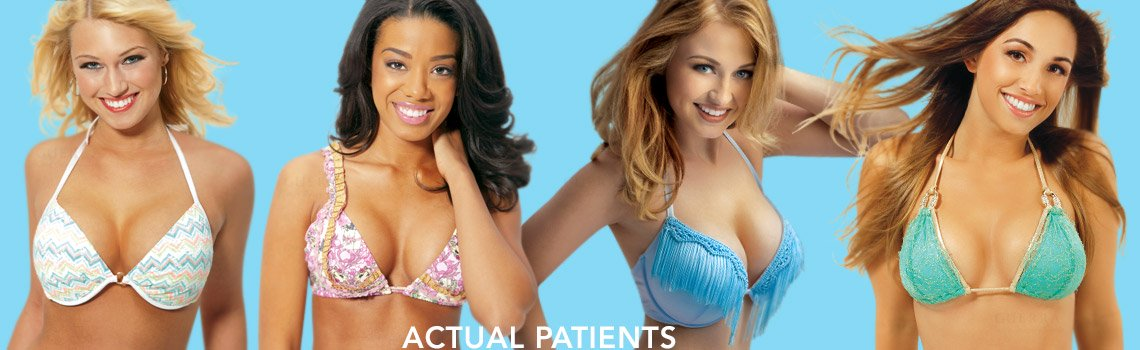 Actual patients in bikinis