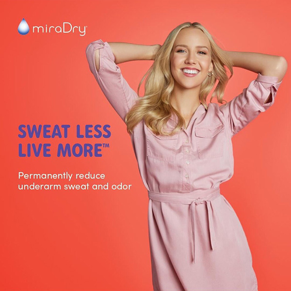 miraDry ad - Sweat Less - Live More